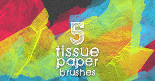 Tissue Paper Brushes