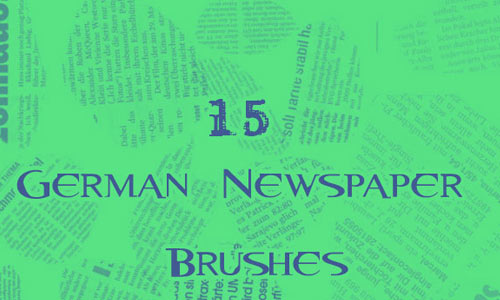 German Newspaper Brushes