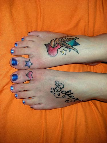 Beautiful Women Foot Tattoo
