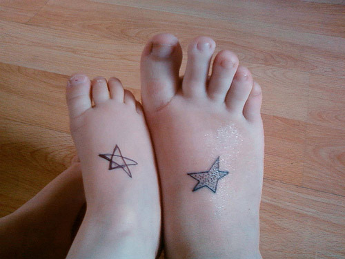 Matching Star Tattoo