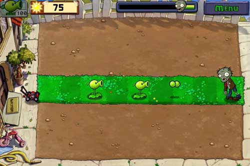 Plants vs. Zombies level