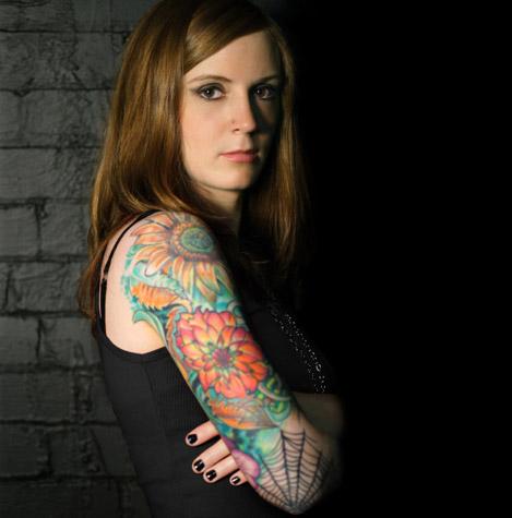 Women Sleeve tattoo design
