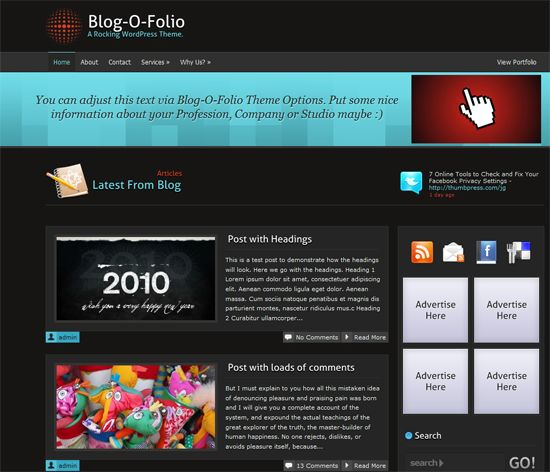 blogofolio-wordpress-theme