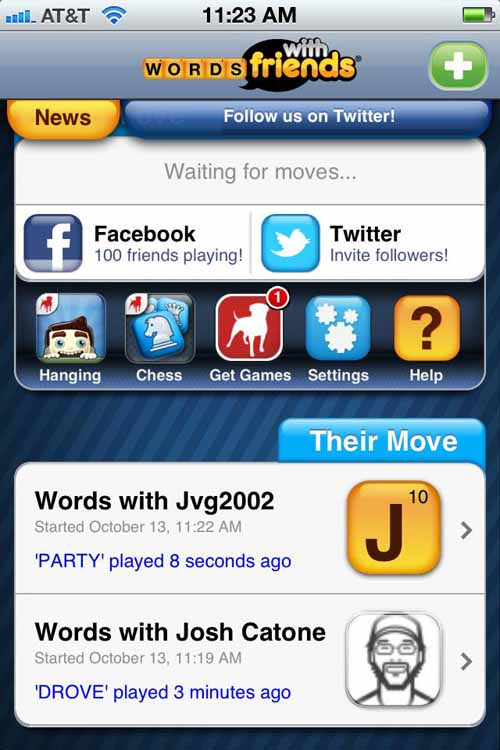 words with friends games
