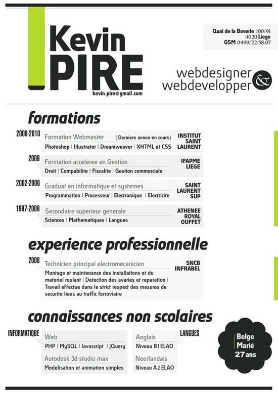 Creative Resume Designs  Resume For Designers