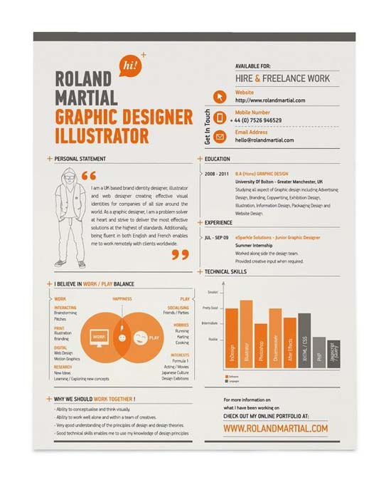 30 creative resume designs that will make you rethink your cv