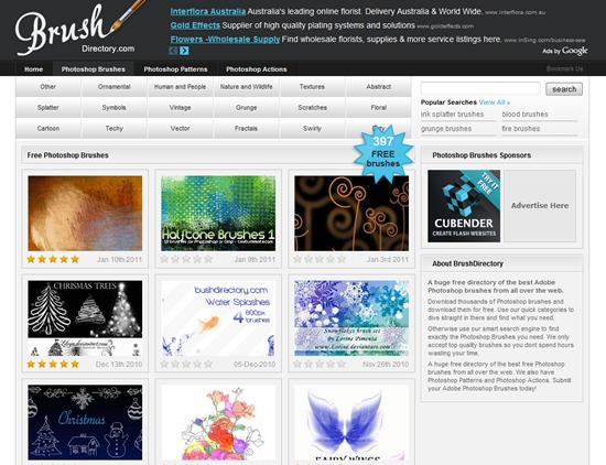 BrushDirectory - Photoshop Brush Site