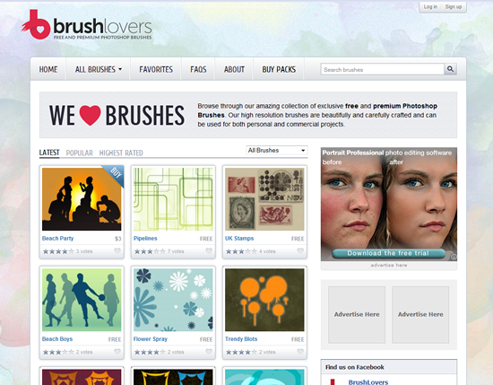 BrushLovers - Photoshop Brush Site