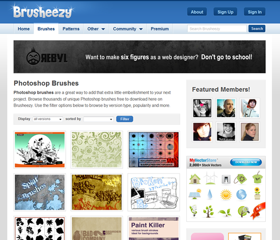 Brusheezy - Photoshop Brush Site