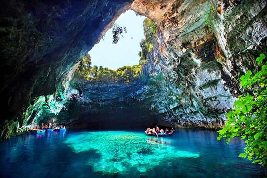 Cave Lake Melissani Greece