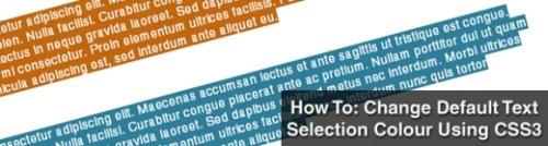 Change Default Text Selection Colour