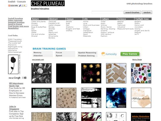 Chez Plumeau - Photoshop Brush Site