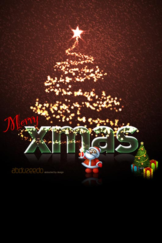 Christmas design in photoshop