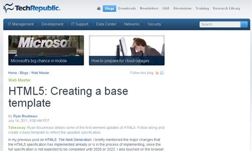 HTML5-- Creating A Base Template