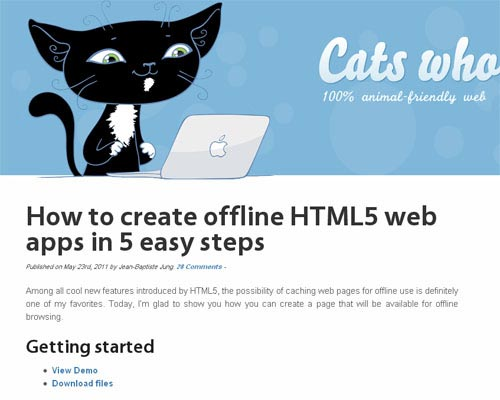How To Create Offline HTML5 Web Apps in 5 Easy Steps
