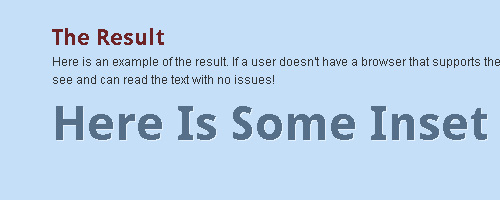 Inset Text With CSS3