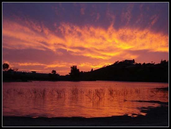 Lake Murray, South Carolina, at sunset