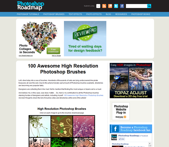 Photoshop Roadmap - Photoshop Brush Site