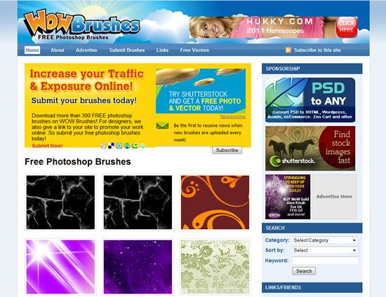 WOW Brushes - Photoshop Brush Site