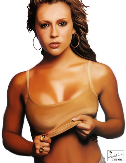 Alyssa Milano Digital Painting