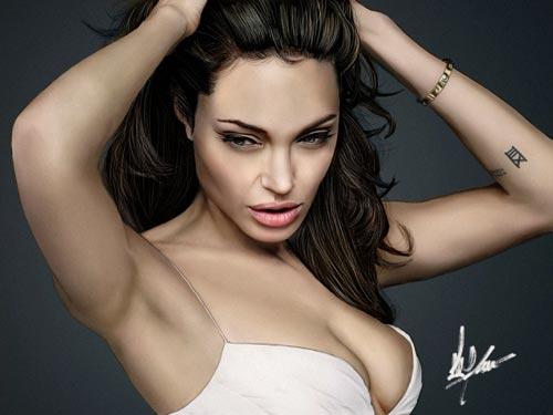 Angelina Jolie -Digital Paint
