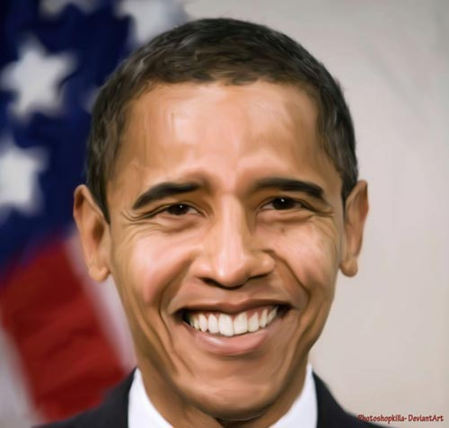 Barack Obama Digital Painting