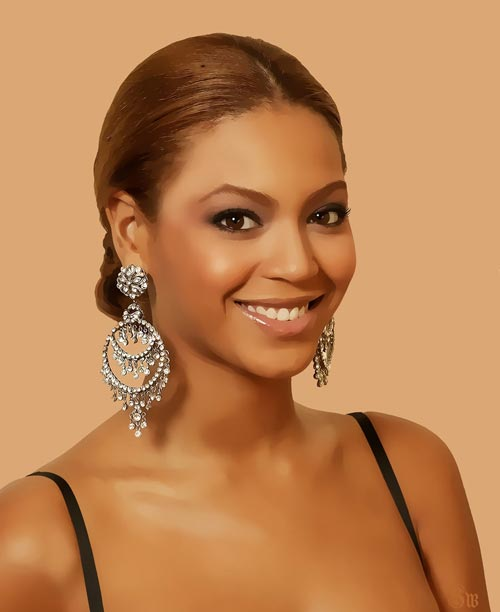 Digital Painting Of Beyonce
