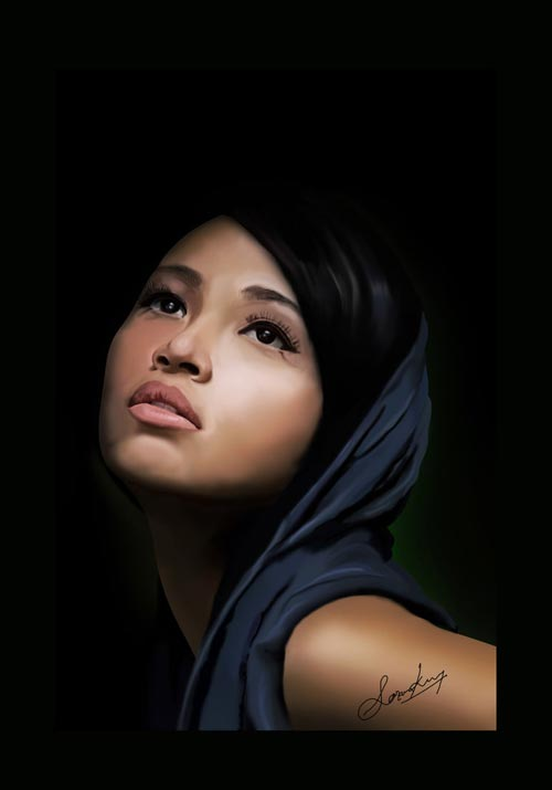 Digital Painting Woment