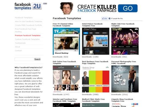 facebook templates 2u.