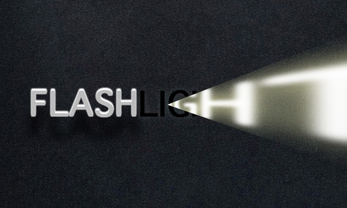 Flashlight effect