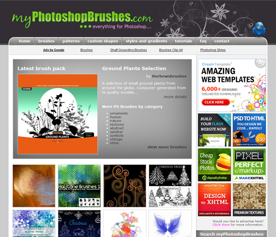 myPhotoshopBrushes - Photoshop Brush Site
