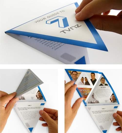 Triangular folding Brochure