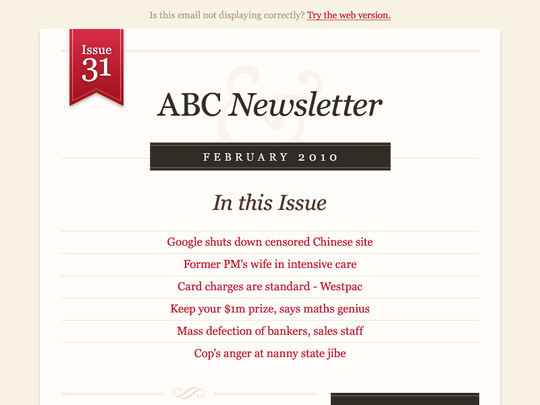 ABC Newsletter