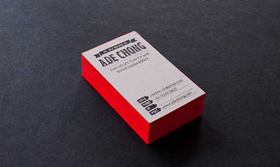 50 impressive business cards from professional artists adeline chong business card colourmoves