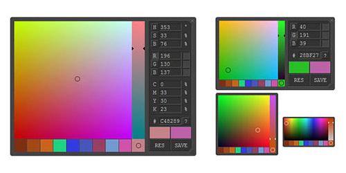 Advanced Javascript ColorPicker