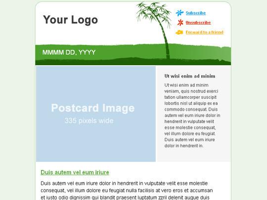 Green Newsletter theme