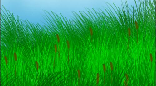Spiky Grass Brushes