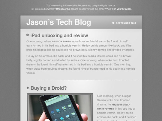 Tech Newsletter