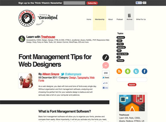 Font Management Tips for Web Designers