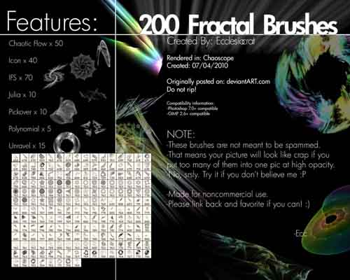 Fractal Brushes Set-15