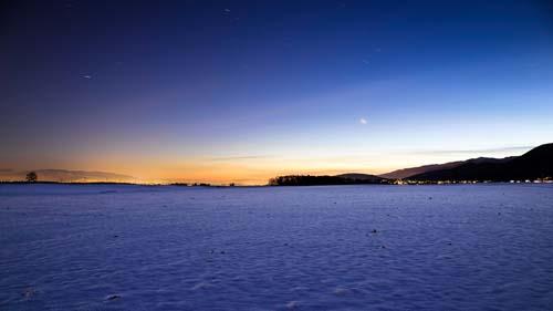 Freezing Night in Switzerland