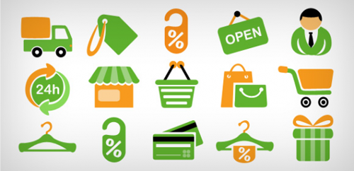Shopping Icons Free PSD And PNG
