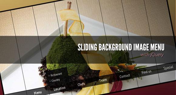 SlidingBackgroundImageMenu