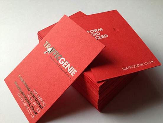 Bright Red Letterpress