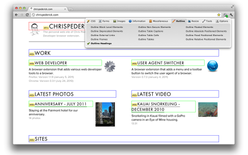 chrome web developer