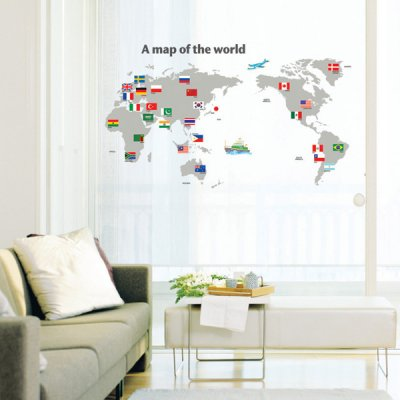 A Map of the World - Wall Sticker