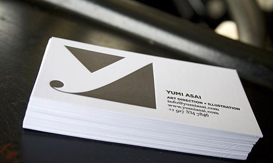 Yumi Asai Letterpress Business Card
