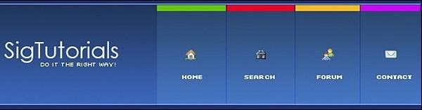 Slick Blue navigation