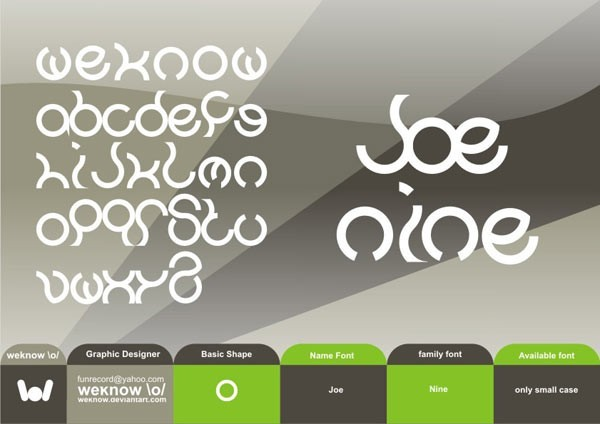 Joenine font