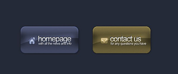 A Nice Stylish Glossy Button in Photoshop